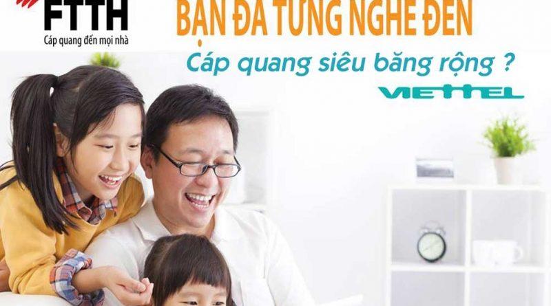 Dịch vụ lắp mạng cáp quang Viettel tốc độ cao