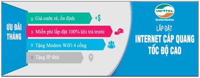 Viettel Nghệ An giá rẻ chất lượng mạng khỏe
