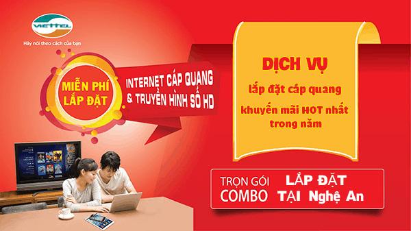 Khuyến mãi đăng ký lắp đặt internet Viettel tại Nghệ An tháng 06/2021