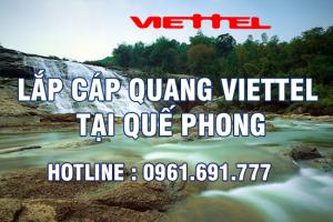 Lắp đặt cáp quang Viettel tại Quế Phong