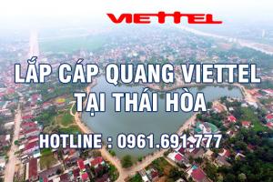 Lắp đặt cáp quang Viettel tại Thái Hòa